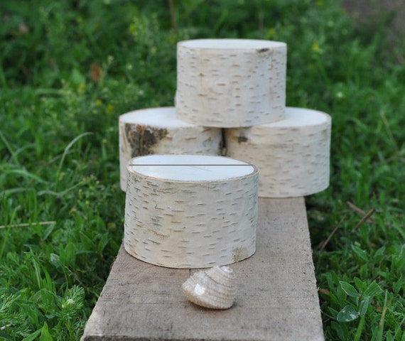 12 Birch Wood Place Holders for Wedding Decor, Meetings, Events, Photo Props, Formal Dinners...