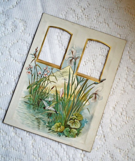 Victorian Photo Album Page - Lily Pads