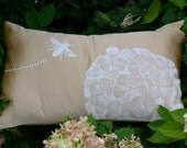 Hydrangea and Bee in Light Gold