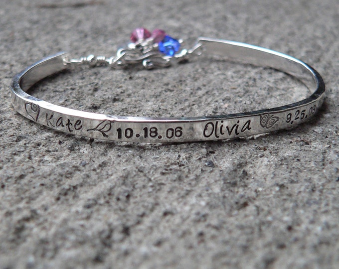Birth Designs -Stamped Sterling Phrase Cuff Bracelet