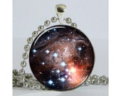 Stars in the Monocerotis Constellation Necklace with Chain Art Pendant Resin Pendant Picture Pendant