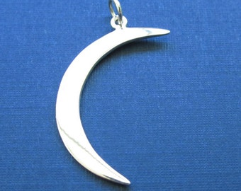Sterling Silver Large Crescent Moon Charm