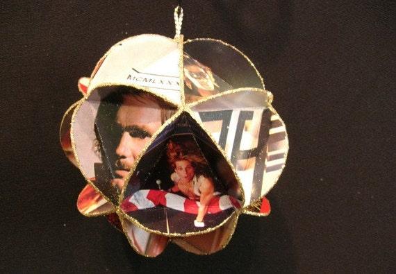Van Halen Album Cover Ornament Made Of Record Jackets - David Lee Roth