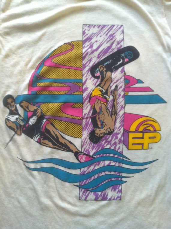 Vintage 1980's EP Wake Board Surf T Shirt