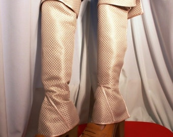 Victorian Spats Comfortable Ivory Leg Warmers