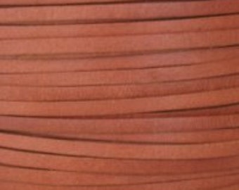 2 Yard Cord Leather Calf Craft Lace 3mm Light Brown Lacing