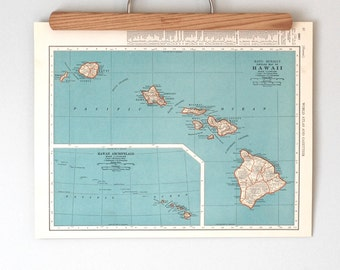 1930s Antique Maps of Hawaii and the Panama Canal