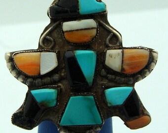 Antique Zuni Inlay Rings .925
