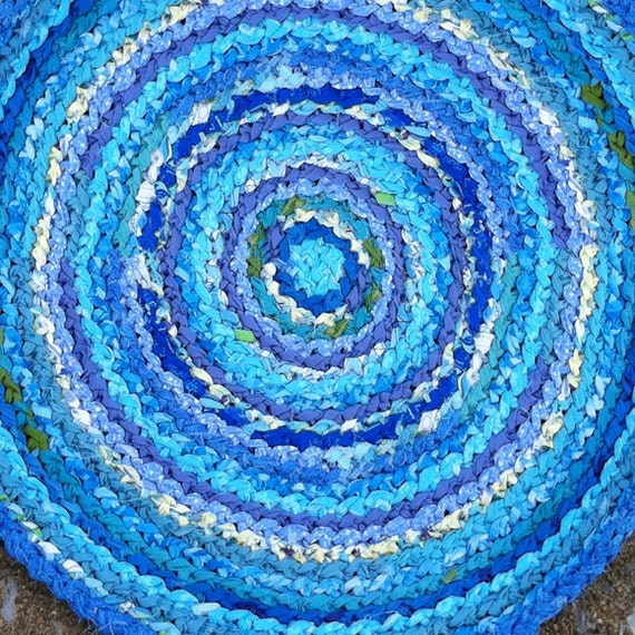 CUSTOM Cotton Round Rug - your choice of size & color