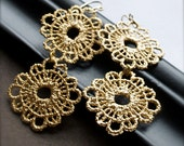 Chandelier Earrings-Gold Wire Lace-Bride Bridesmaid-