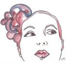 Custom Watercolor 5 x 7 Portrait