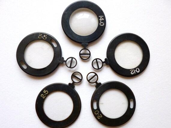 3pc Monocle Black Optical Lens Pendant