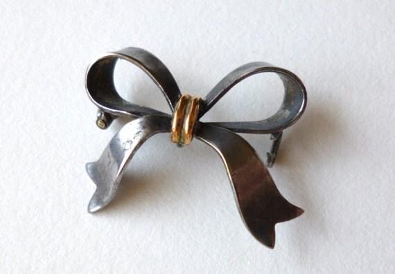 SALE Antique Silver Bow for Parts Repair