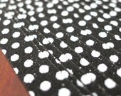 Black White Polka Dots - Glow in the Dark Magical Fairy Dust Origami Lucky Star Paper Strips - pack of 20 strips