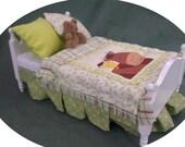 Dolls House Luxury Dressed Single Bed - Clara