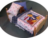 Dolls House Luxury Dressed Single Bed - Sam