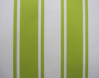 2 Curtains, Drapes, Window Curtains, Set of 2 Designer Lime and Off White Stripe Curtain Panels 50 x 63, 72, 84, 96