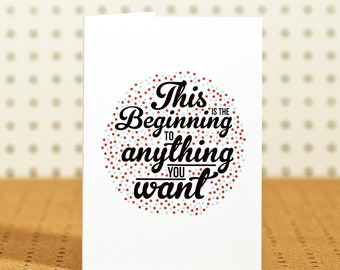 Beginnings - Greetings Card