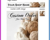 30% OFF: Etsy Banner, Organic yarn set - Banner, Placeholder, Avatar -You choose the font