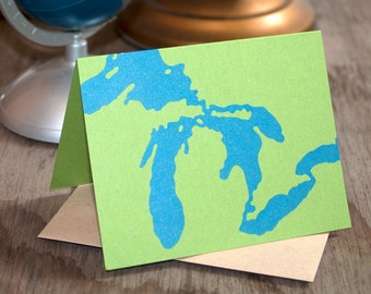 Great Lakes Greeting Card (Single)