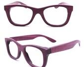 WALKER2012  handmade purple wood wooden eyeglasses glasses frame