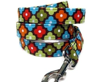 Designer Dog Leash - Autumn Annie Flowers