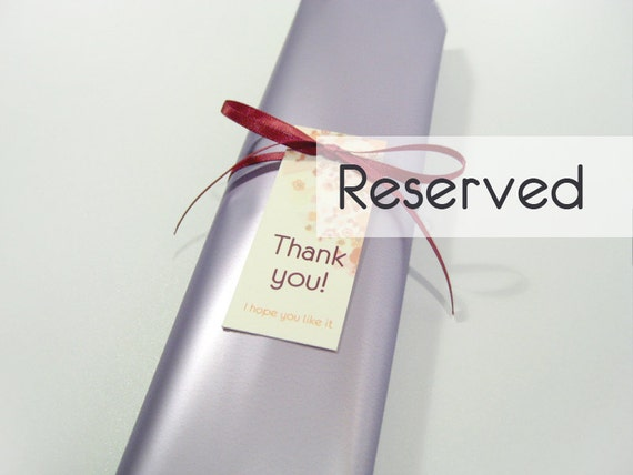 Reserved for Sylvia