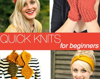 4 Neeka Knits KNITTING PATTERN PDFS - Quick Knits for Beginners Collection