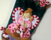 FINISHED Bucilla Stocking-Cupcake Angel
