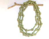 Apple green necklace - eco knitted necklace - women Fashion