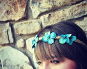 cornflower blue flower crown for women, girls, teen: steph