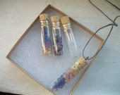The Captured Memories- Fillable Glass Cork Bottle Necklace