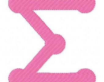 Greek Letters Dot Collegiate Machine Embroidery Monogram Font Design Set, Machine Embroidery Designs, Sorority Letters // Joyful Stitches