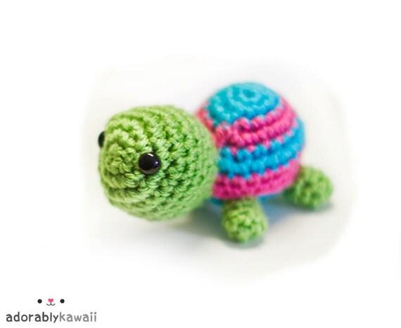 cute baby turtle amigurumi plush doll toy