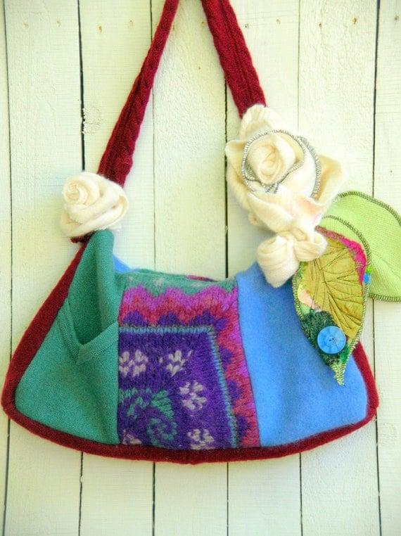 One of a Kind Bohemian Gypsy Sweater Bag Purse Handbag
