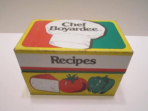 Chef Boyardee Recipe Box 1982 Vintage American Home Foods