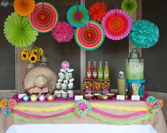 Fiesta Fifty Printable Birthday Party Invite - Petite Party Studio