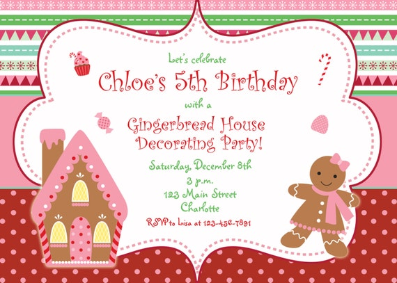 Items Similar To Gingerbread House Christmas Party