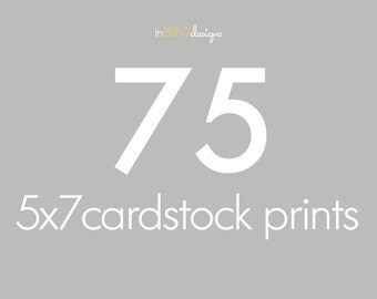 75 5x7 Cardstock Press Printed Cards, envelopes included