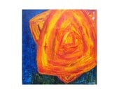 """Modern ABSTRACT ORIGINAL painting  24""""x24"""" red blue yellow abstract by devikasart on Etsy"""