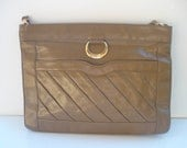Vintage Zenith Handmade Taupe Leather Purse