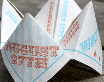 Wedding Favor Ceremony Program Cootie Catcher (PDF - PRINTABLE)