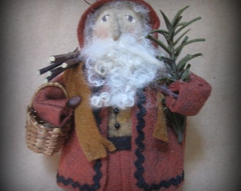 Woodland Santa Ornament KIT by cheswickcompany