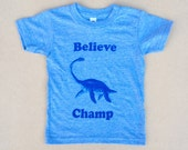 Believe Champ Kids Youth T-shirt, Youth American Apparel Heather Blue Tri-Blend Tee