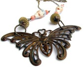 Unusual jewelry MOTHRA movie monster jewelry kaiju moth sci fi necklace unique jewelry unique gift for her unusual necklace