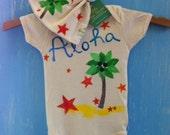 organic baby gift set, a little bit of aloha....