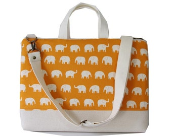 "SALE-13"" Macbook or Laptop bag with handles and detachable shoulder strap -Ready to ship"