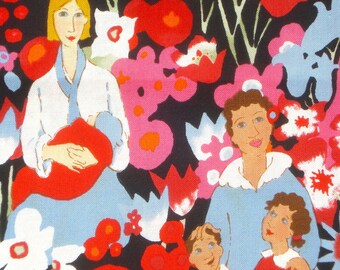 Alexander Henry fabric  'mother's day' Nicole de Leon on black 2001 FQ or more