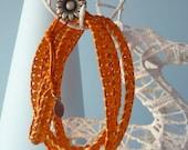 Orange on Orange Wrap Bracelet