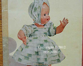 Vintage 1951 The Doll Book No. 280, Crocheted Doll Clothes in Cotton and Wool, Doll Dresses, Original Booklet